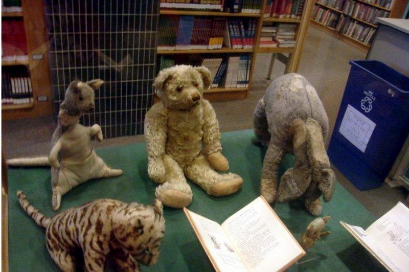 Настоящие игрушки Кристофера Робина, которые хранятся Нью-Йоркской публичной библиотеке